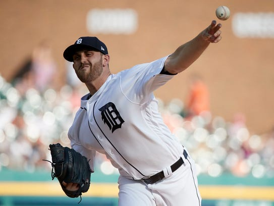 Tigers pitcher Matthew Boyd (48) pitches in the first