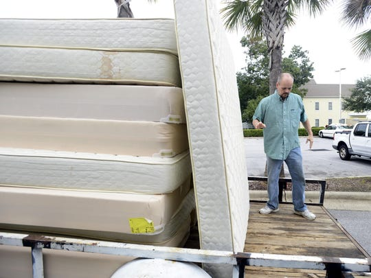 Donated furniture goes to temporary housing for recently released inmates