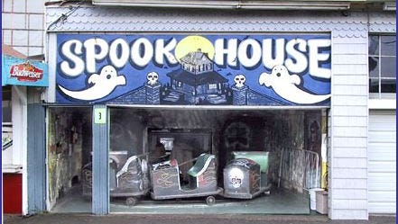 The Spook House at Keansburg Amusement Park.