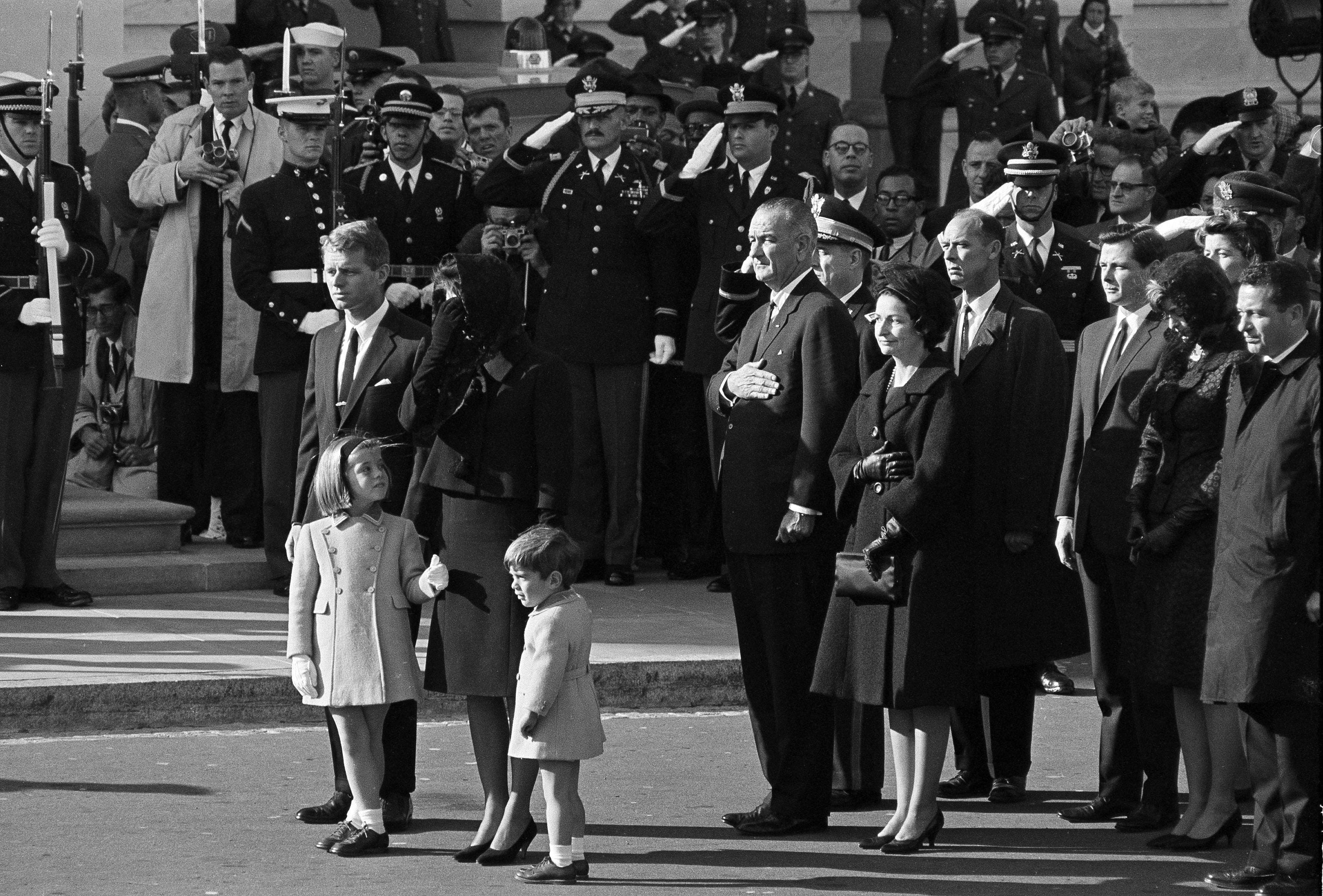 jfk funeral procession images of christmas
