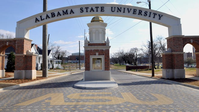 Alabama State University's Hall Street entrance on Wednesday, March. 3, 2010. (Montgomery Advertiser, Amanda Sowards)