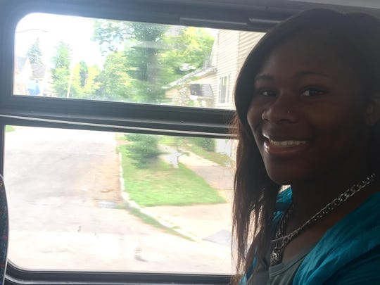 Imani Obieke, 17, rides the bus almost daily.