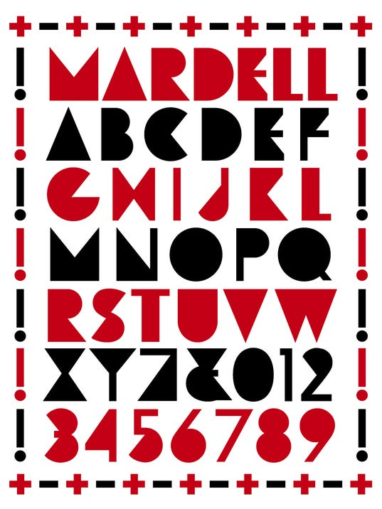 Mardell font