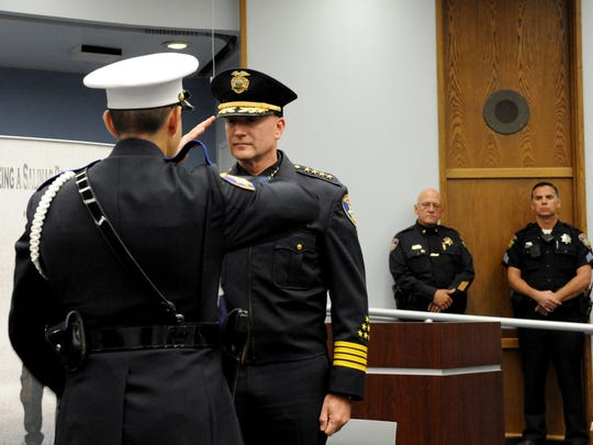 A final briefing ceremony was held this morning for Salinas Police Chief Kelly McMillin who is retiring after 33 years in law enforcement.
