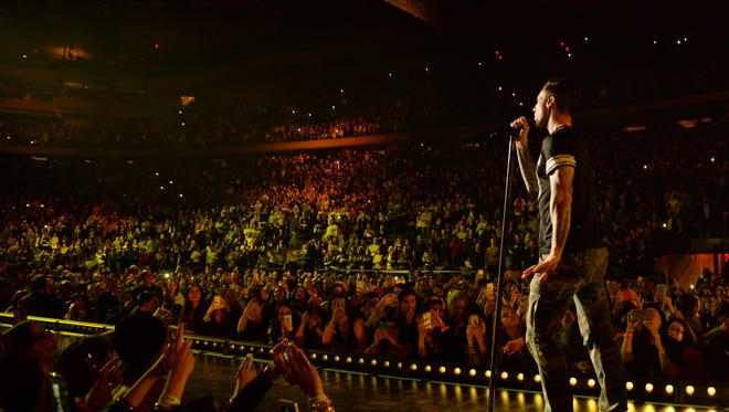 Adam Levine of Maroon 5 performs at Madison Square Garden on March 5.