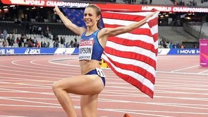 Jenny Simpson, after winning the silver medal on Monday in London.