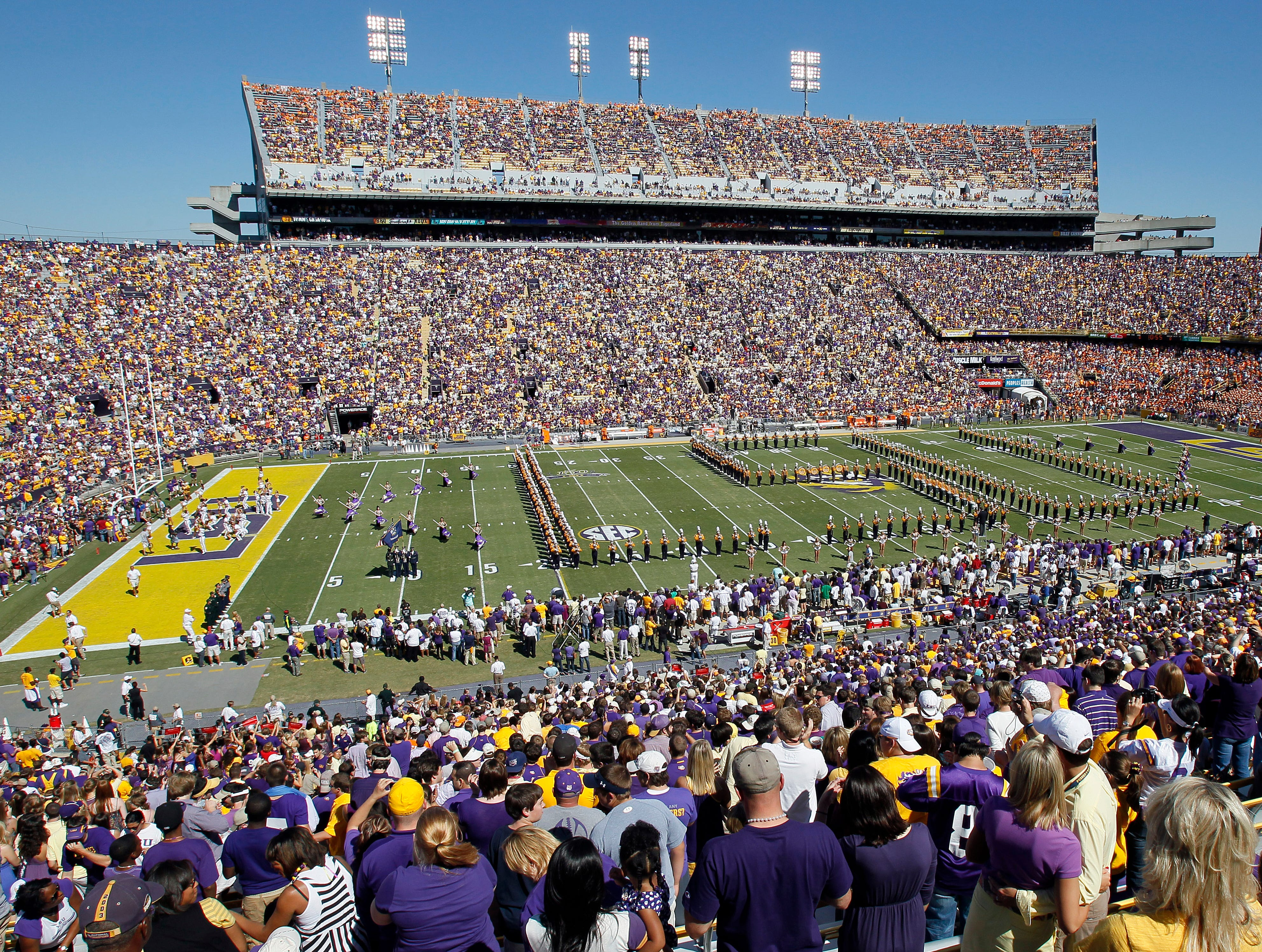 Tiger Stadium, LSU: Legend says in 1988 when the Tigers scored a game-winning touchdown in the final minute against Auburn, the rumble from the stadium caused the seismograph at the school to register an earthquake.