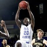MTSU's Giddy Potts has a chance to be one of the key offensive weapons on the basketball team this season.