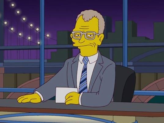 Simpsons David Letterman