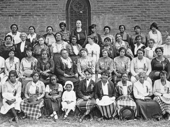 This photo captured the women (and children) of the first Montana Federation of Colored Women's Clubs annual convention, which took place in Butte on August 3, 1921. These women led the fight for civil rights legislation in Montana.