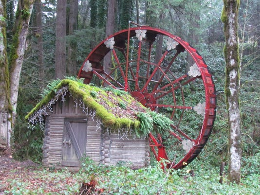 when the water wheel turns in gates
