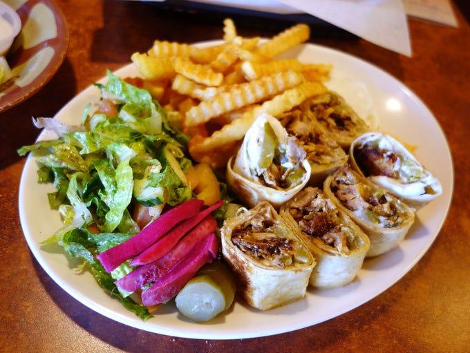 Arabic shawarma plate at Shawarma King.