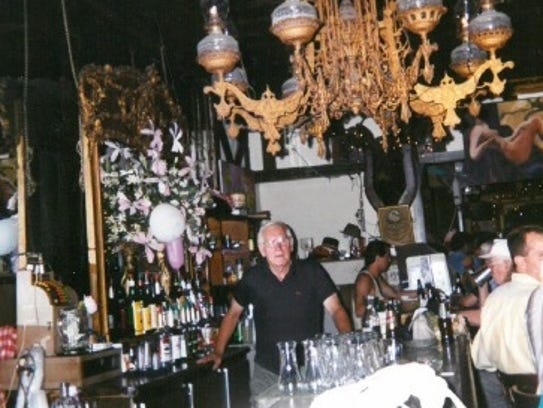 Bartender Ray Johnson, seen in this 1990s photo, was