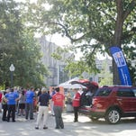 United Way Members and Kalamazoo residents gathered in Bronson Park of Kalamazoo on Tuesday for a book drive promoting early age reading for the United Way's Campaign Kickoff.