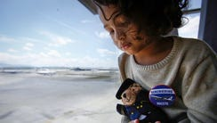 Raphael Ariano, 5, grandson of Patrick Gomes, inflight