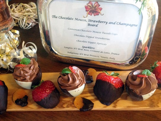The Dessert Board, with chocolate, strawberries and