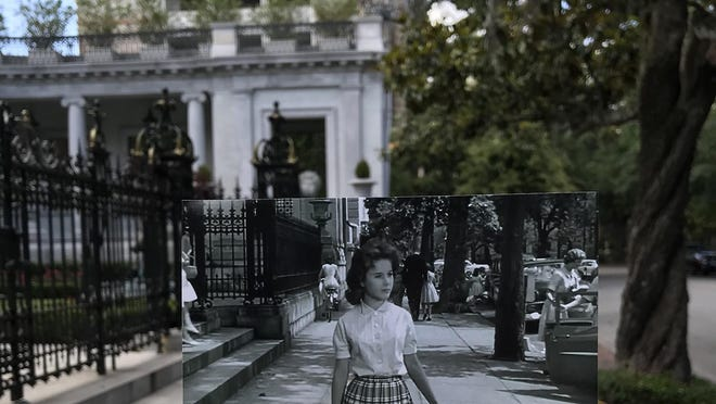 First Place: Using still images from classic movies filmed on location in Savannah, Cecilia Morris highlighted the city's history by juxtaposing (in person) those locations over the same contemporary scenes.