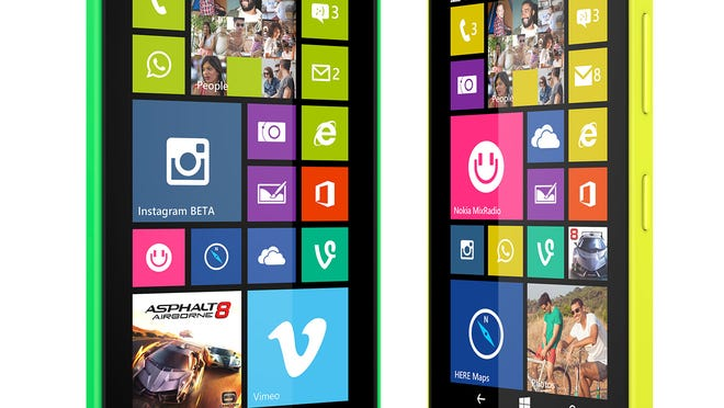 This product image provided by Microsoft shows the Lumia 635 smartphone.