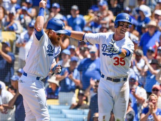 USP MLB: COLORADO ROCKIES AT LOS ANGELES DODGERS S BBN LAD COL USA CA