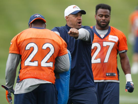 Denver Broncos running backs coach Eric Studesville,