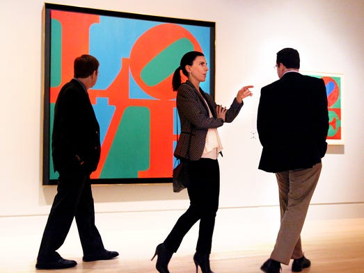 The print that made it all famous. The original LOVE from 1966 is a point of interest as part of The Essential Robert Indiana exhibit at the Indianapolis Museum Art. The first print retrospective of Robert Indiana's powerful graphic work in over 40 years. The exhibit runs Feb. 16-May 4, 2014.
