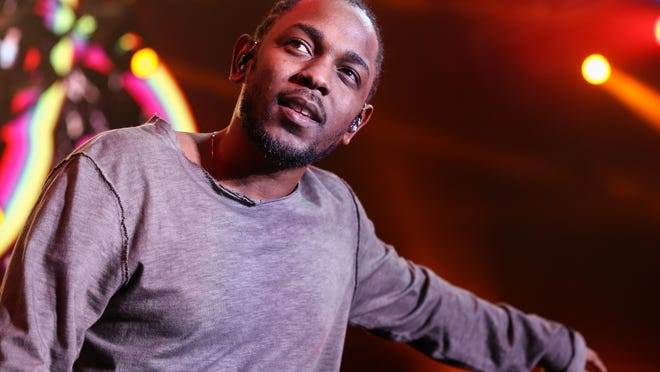 Kendrick Lamar performs in Inglewood, Calif., in December 2015. The rapper has 11 Grammy nominations.