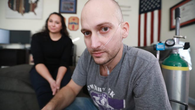 Heath Robinson of Pickerington said his cancer was the result of exposure to toxic smoke from trash burning pits while serving in Iraq.