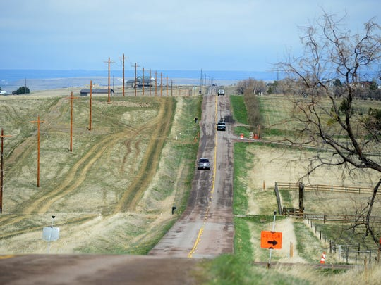 A portion of Fox Farm Road south of Great Falls will be widened and resurfaced in a multiphase project by United Materials that started on Monday.