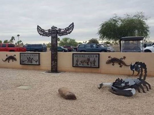 The display off Camino del Sol constructed by the Sun