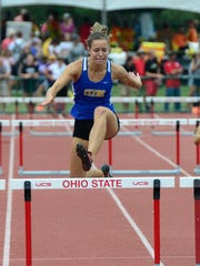 Clyde's Paula Wollenslegel competes in the girls 300