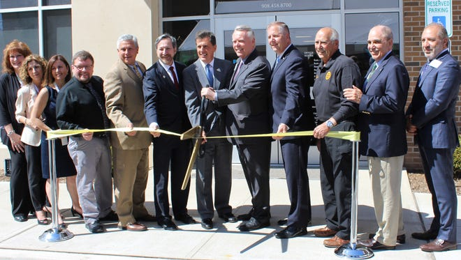 Somerset County Freeholders join Integrity Health Officials for the grand opening of the new health center in Somerville.