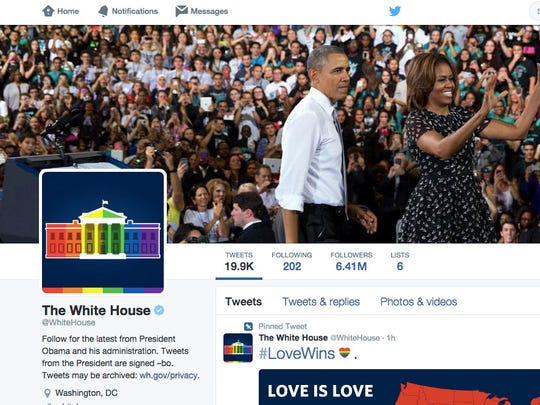 The White House's official Twitter feed