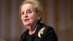 Former U.S. Secretary of State Madeleine Albright speaks