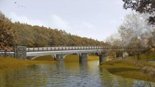 Artist's rendering of what the new Crane Road Bridge will look like when it's finished.( Submitted/Westchester County )