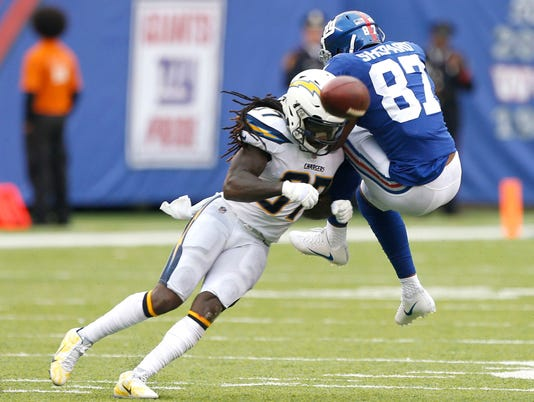 NFL: Los Angeles Chargers at New York Giants