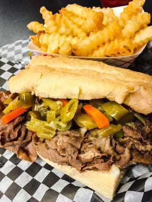 Campione's Taste of Chicago offers authentic Chicago-style Italian beef served spicy giardiniera.