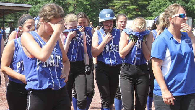 Averill Park defeated Pearl River 5-2 in the class A NYSPHSAA  girls softball semifinal in South Glens Falls on Saturday.