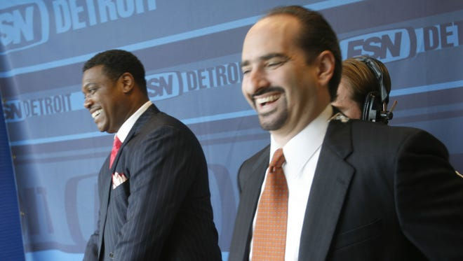 Rod Allen, left, and Mario Impemba in the Fox Sports Detroit studio in 2006.