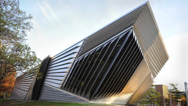 The Eli and Edythe Broad Art Museum located on Grand River Avenue on the MSU campus.
