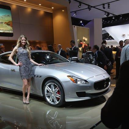 Maserati Quattroporte showroom