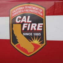 CalFire firefighters are at the scene of a house fire in Indio Tuesday.