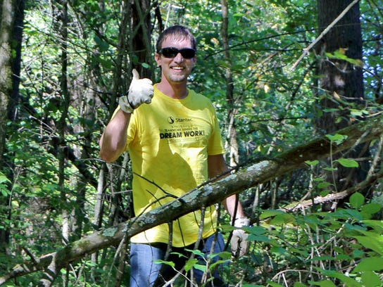 Volunteers from local firm Stantec build trail at Upper La Platte River Natu (4)