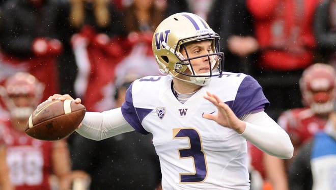 Washington quarterback Jake Browning threw for 3,430 yards and 43 touchdowns and led the Huskies to the Playoff.