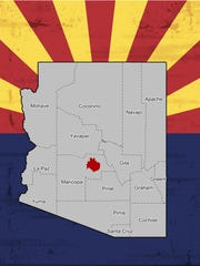 A map of Arizona's 6th Congressional District.