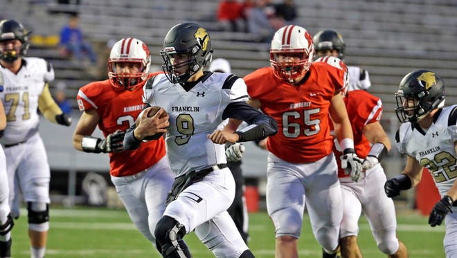 If Franklin makes it back to the WIAA Division 1 title game this season, it will do so behind Max Alba's arm, not his feet.