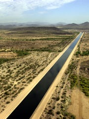 The Central Arizona Project canal in October 2002 as