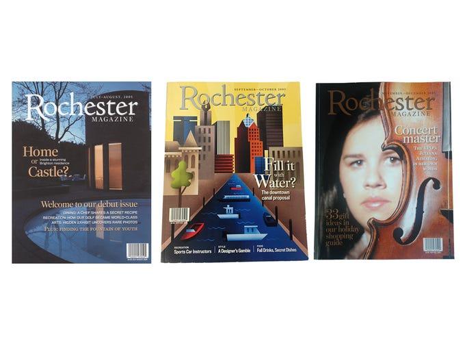 2005 Rochester Magazine covers