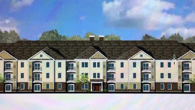 Blackledge Residential is 108-unit apartment complex proposed for Union Street in Easton. Above, an architectural rendering of the front of the building.