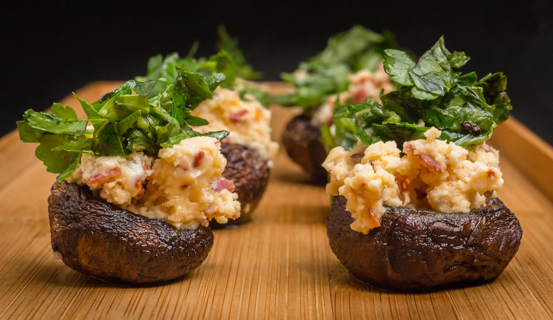 How to cook stuffed champignons - recipes with step by step photos