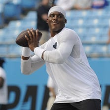 Cam Newton before the game.